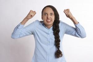 Frustrerad kvinna